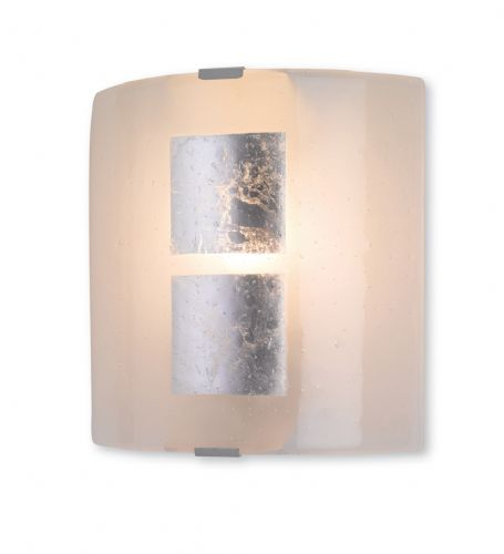 Firstlight 4251SI Silver Leaf on Murano Glass Murano Glass Wall Light